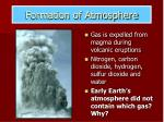 formation of atmosphere