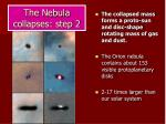 the nebula collapses step 2
