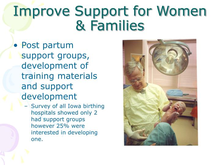 Improve Support for Women & Families