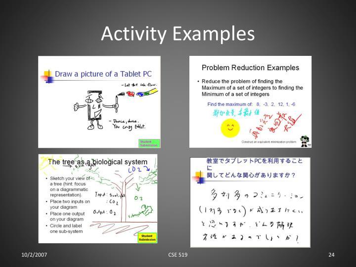 Activity Examples