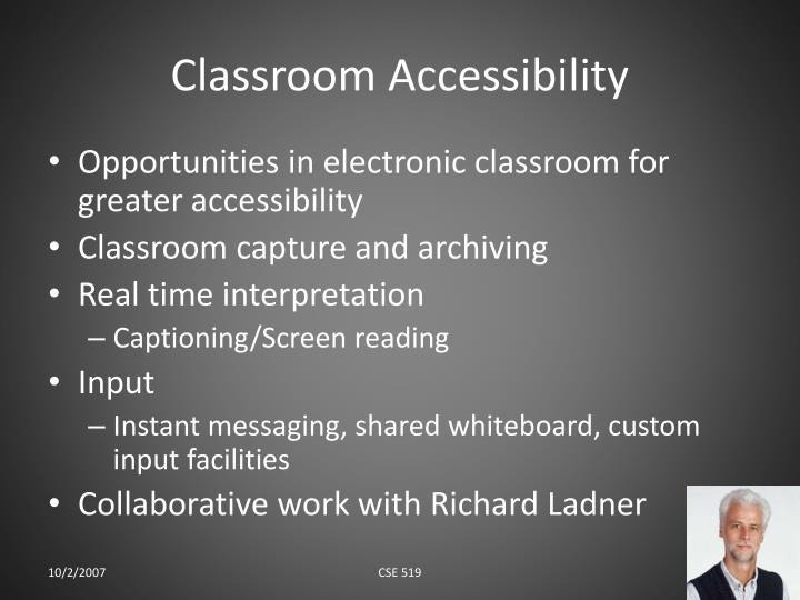 Classroom Accessibility