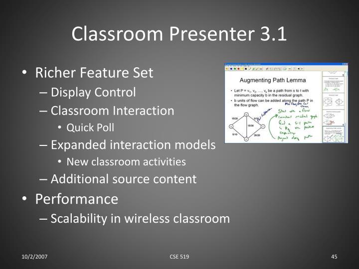 Classroom Presenter 3.1