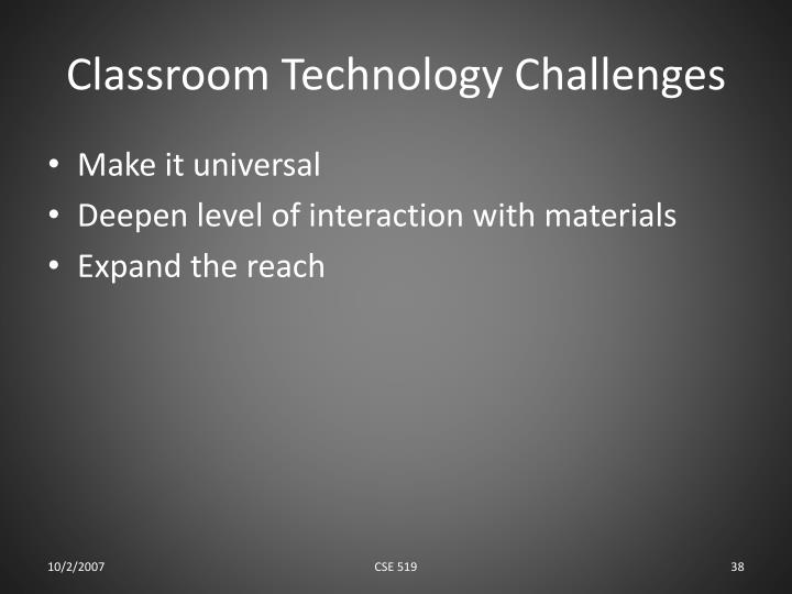 Classroom Technology Challenges