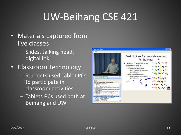 UW-Beihang CSE 421