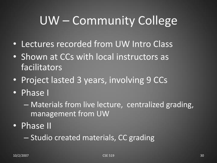 UW – Community College