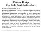 diverse design case study small satellites surrey1