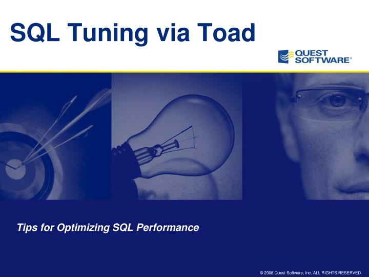 sql tuning via toad n.