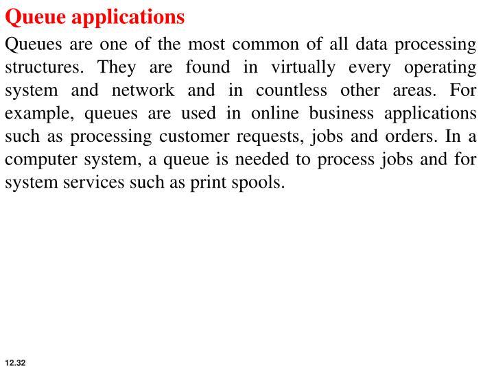 Queue applications