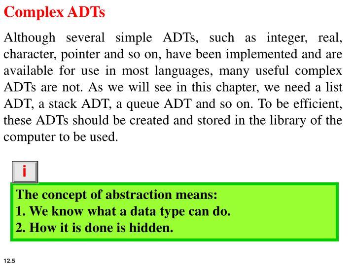 Complex ADTs