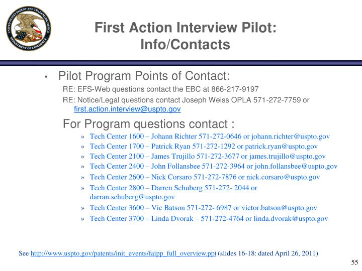 First Action Interview Pilot: