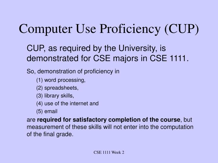 Computer use proficiency cup1