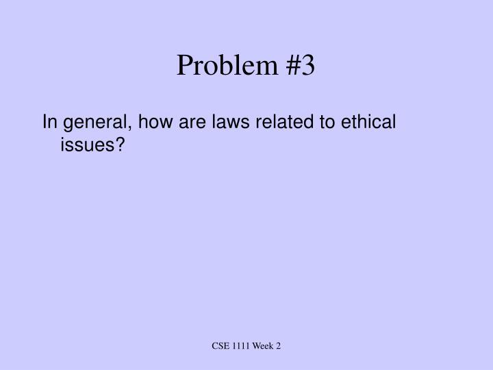 Problem #3