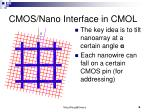 cmos nano interface in cmol