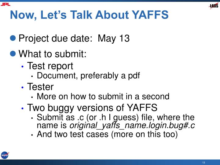 Now, Let's Talk About YAFFS