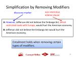 simplification by removing modifiers2