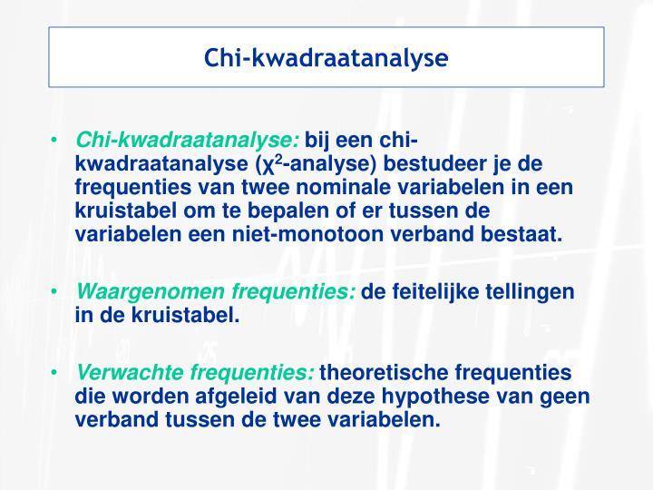 Chi-kwadraatanalyse