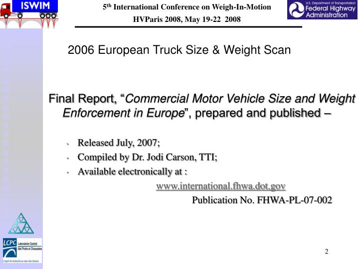 2006 european truck size weight scan