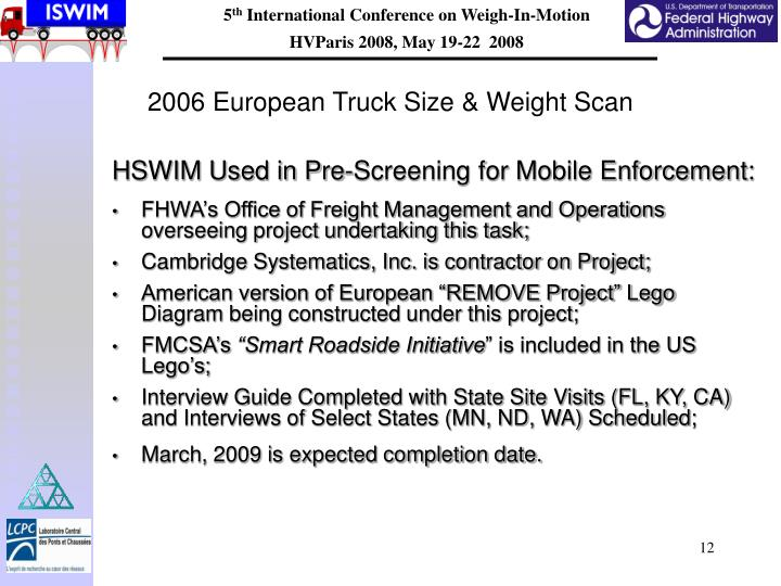 2006 European Truck Size & Weight Scan