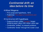 continental drift an idea before its time