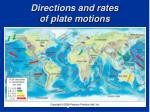directions and rates of plate motions