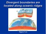 divergent boundaries are located along oceanic ridges