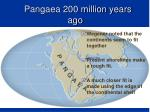 pangaea 200 million years ago