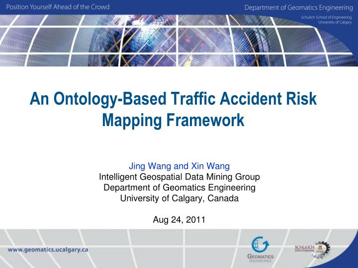 an ontology based traffic accident risk mapping framework
