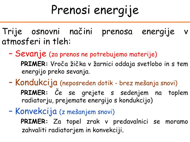 Prenosi energije