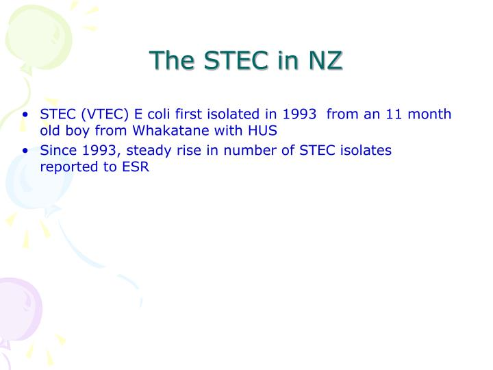 The STEC in NZ