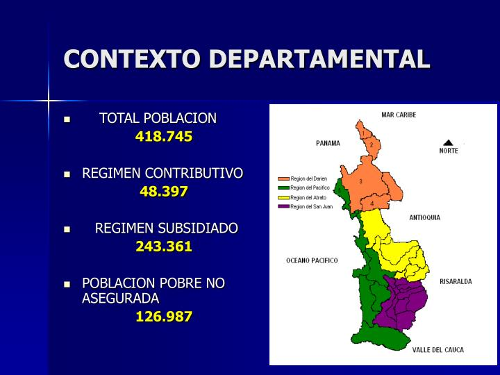 Contexto departamental