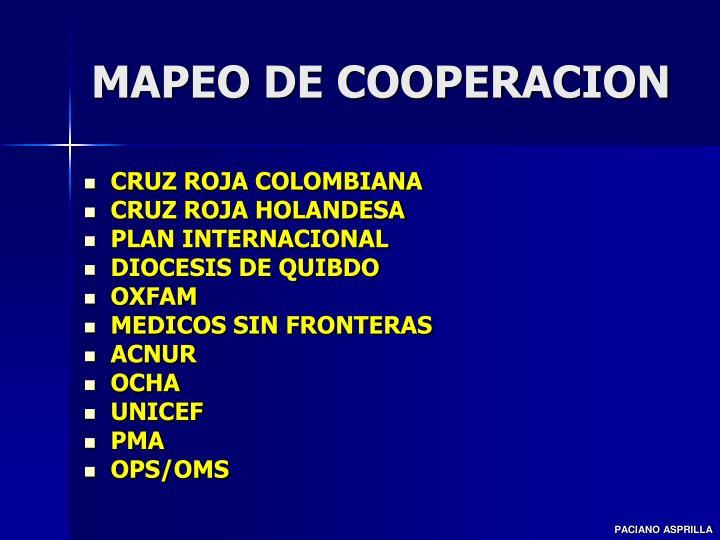 MAPEO DE COOPERACION
