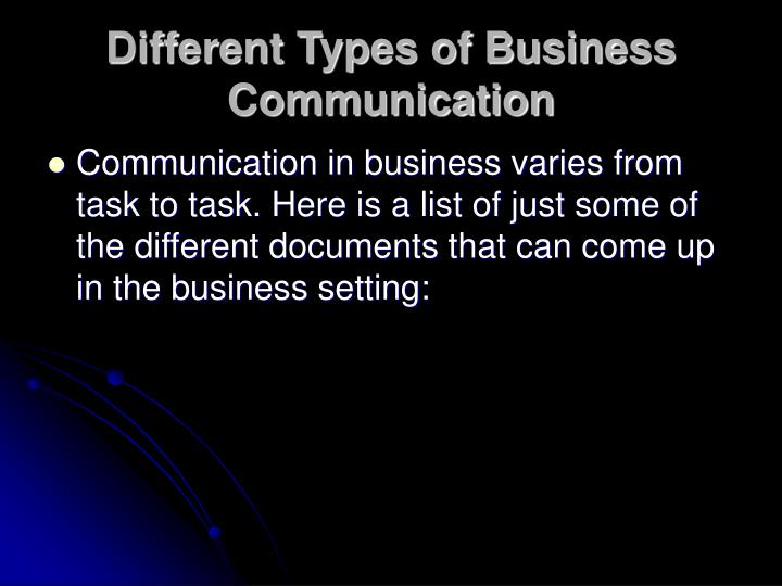 Different Types of Business Communication
