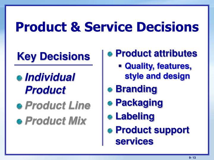 Individual Product