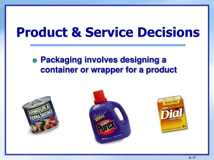 Product & Service Decisions