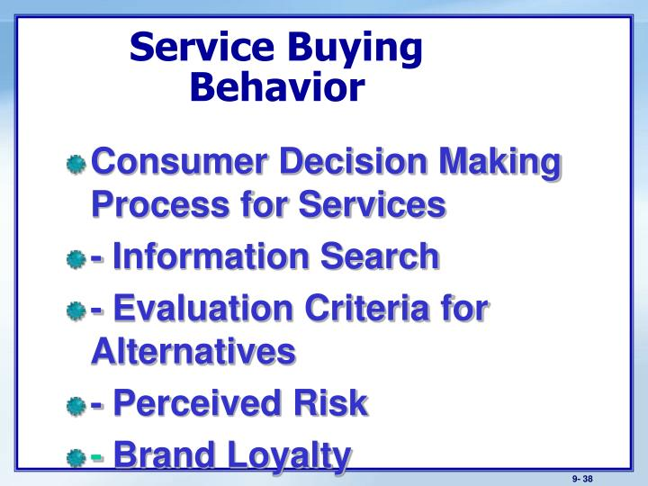 Service Buying Behavior