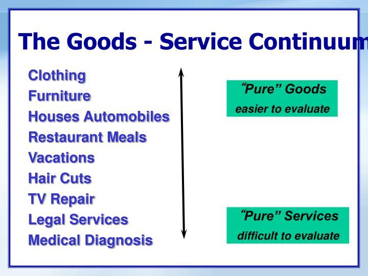 The Goods - Service Continuum