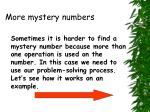 more mystery numbers