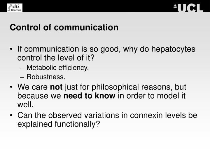 Control of communication
