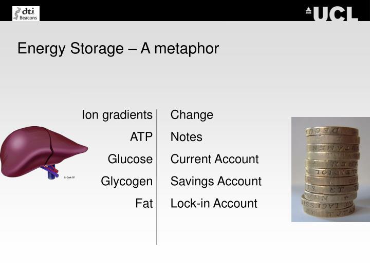 Energy Storage – A metaphor