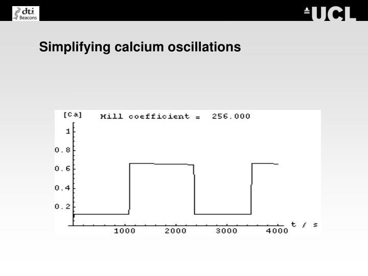 Simplifying calcium oscillations