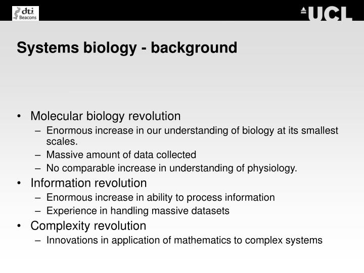 Systems biology background