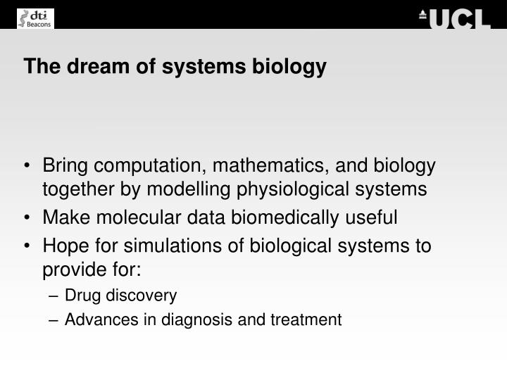 The dream of systems biology