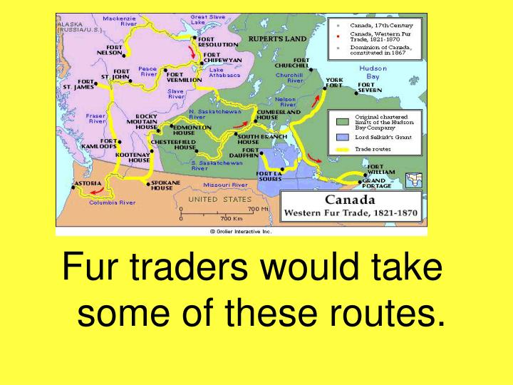 Fur traders would take some of these routes.