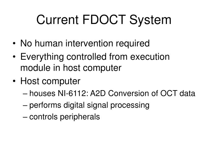 Current FDOCT System