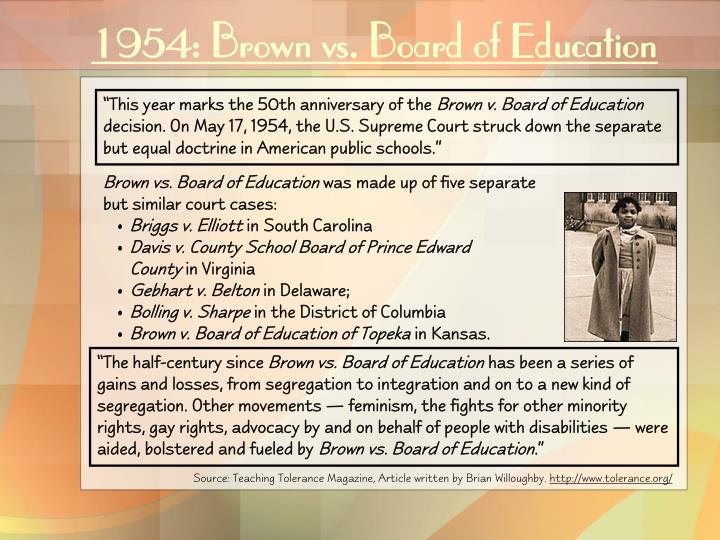 1954 brown vs board of education