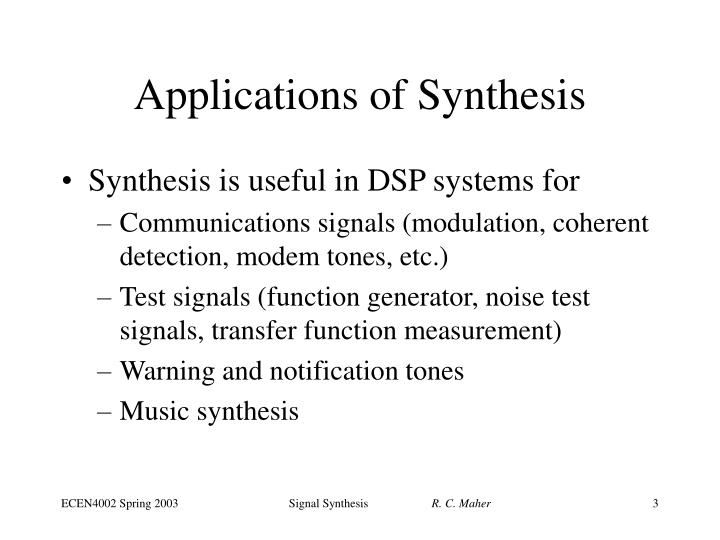 music sythesis An explanation of music synthesis technology and how midi is used to generate and control sounds this document was originally published in 1995 at a time when midi had been used in electronic.