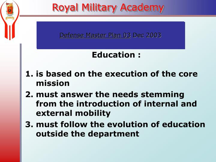 Education :
