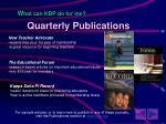 quarterly publications