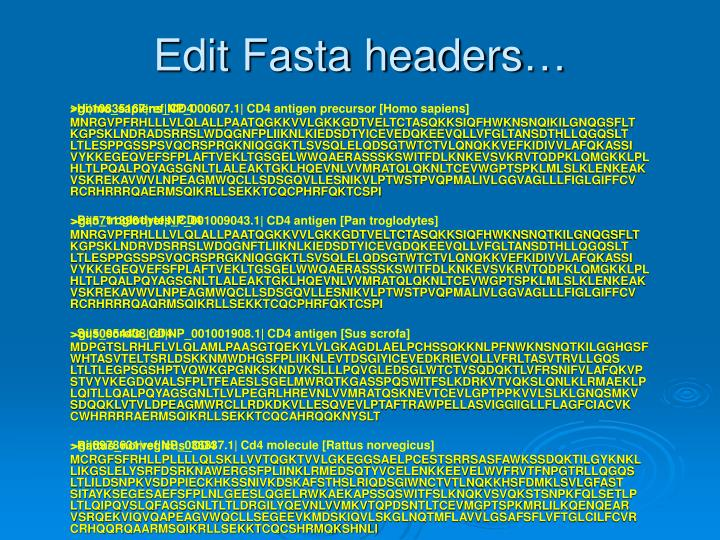 Edit Fasta headers…