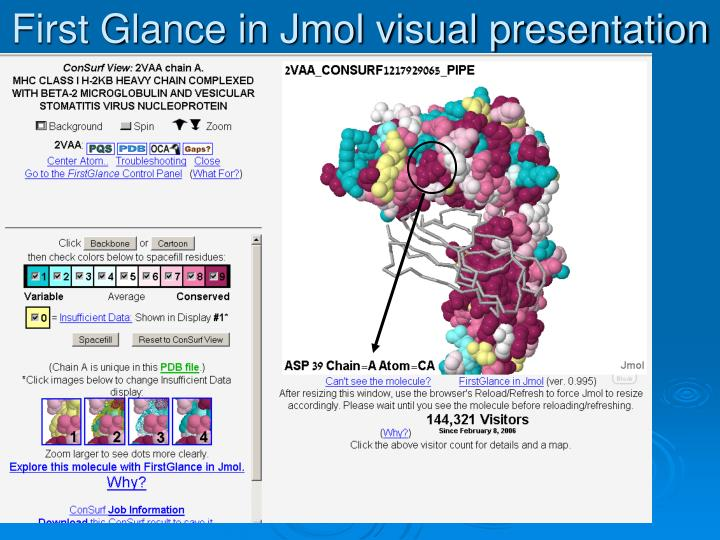 First Glance in Jmol visual presentation